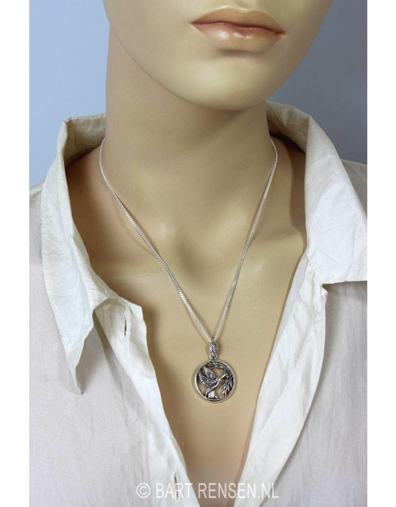 Hummingbird pendant - sterling silver