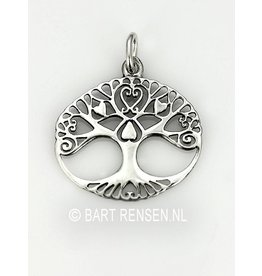 Tree of life Love pendant - silver