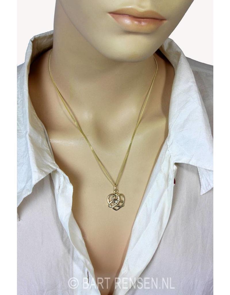Triquetra Hart hanger - 14 krt goud