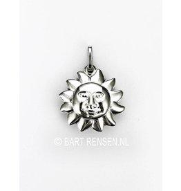 Sun pendant - silver