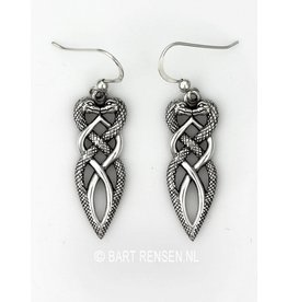 Zilveren Slangen oorhangers