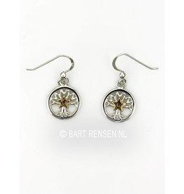 Tree of Life Pentagram Earrings