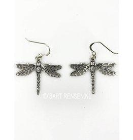 Zilveren Libelle Oorhangers