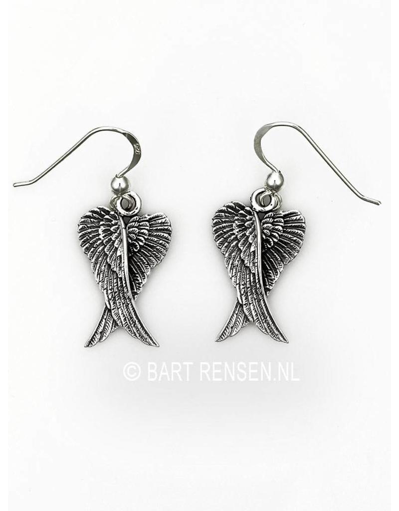 Angel wings Earrings - sterling silver