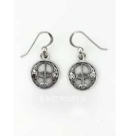 Silver Vesica Pisces Earrings