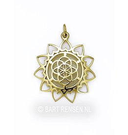Golden Seed of Life Lotus pendant