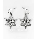 Triquetra Angel earrings - sterling silver