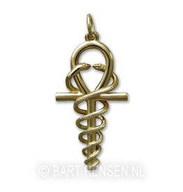Golden Ankh-Hermes pendant -