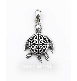 Zilveren Schildpad hanger