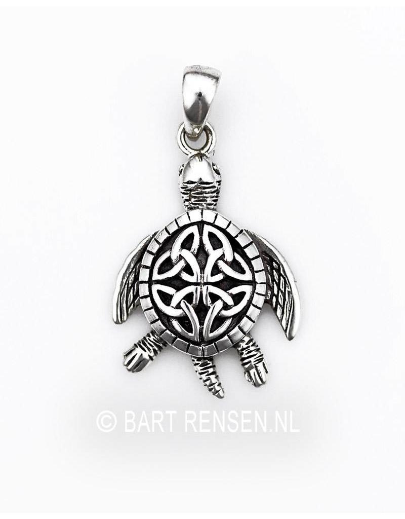 Schildpad hanger - echt zilver