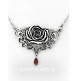 Mystic Rose pendant - sterling silver