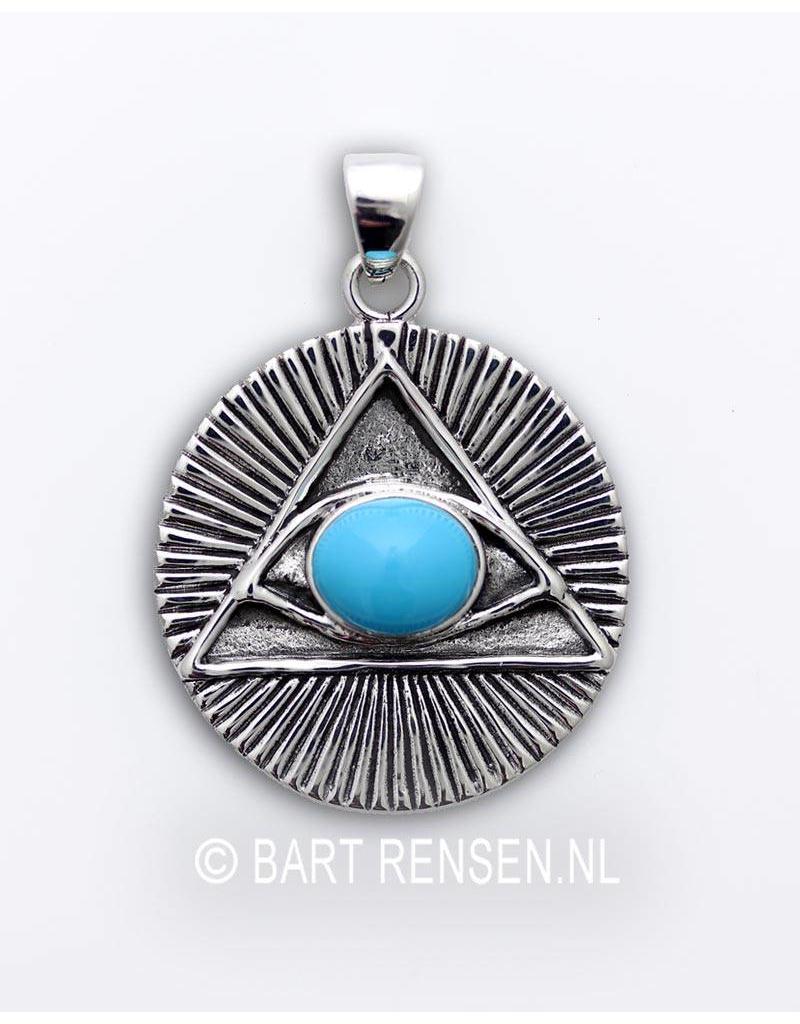 Horusoog hanger - echt zilver