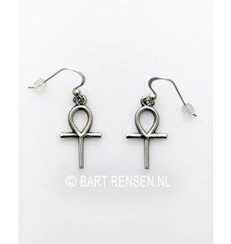 Ankh Earrings - silver