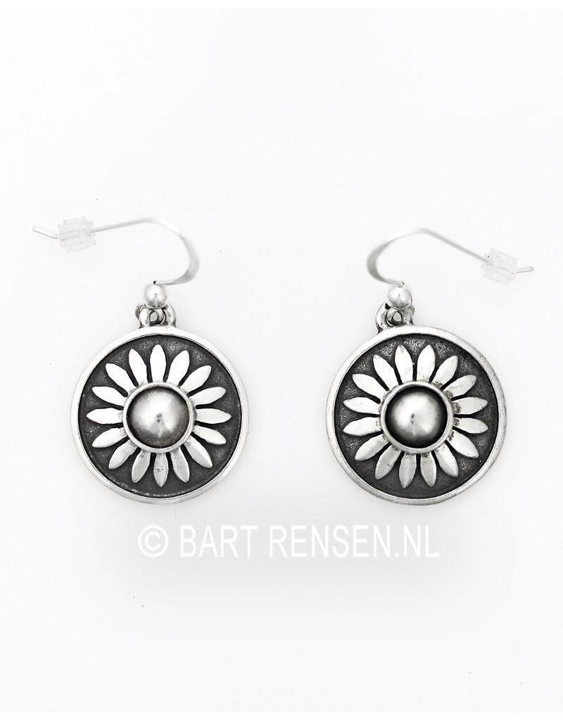 Lotus oorhangers - echt zilver