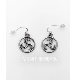 Triskel earrings - silver