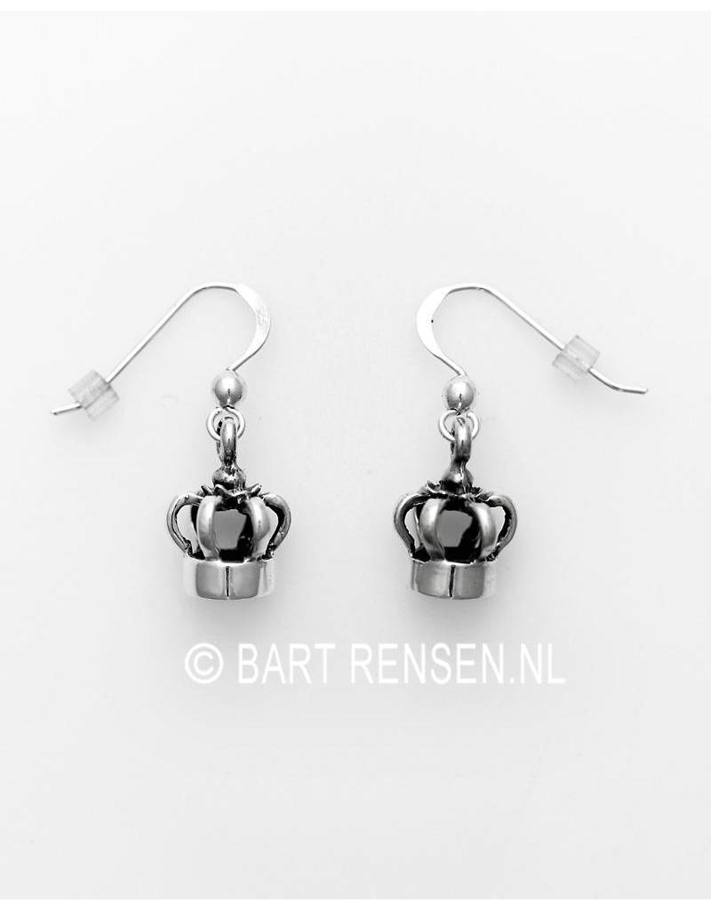 Crown earrings - sterling silver