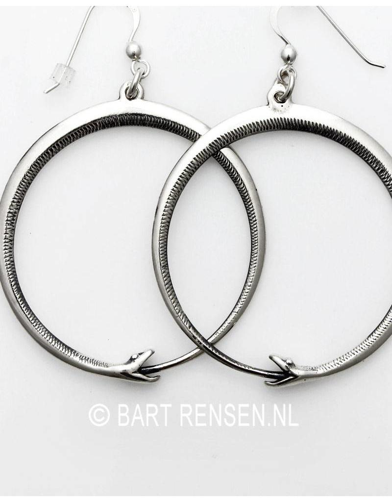 Ouroboros Earrings -sterling silver