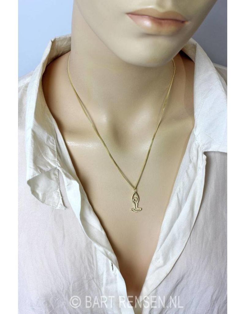 Yoga pendant - 14 crt gold