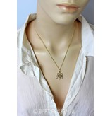 Celtic Lotus pendant - 14 carat gold