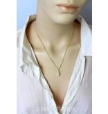 Schildpad hangertje / oorstekers  - 14 krt goud