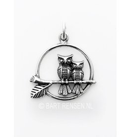 Silver Owls pendant