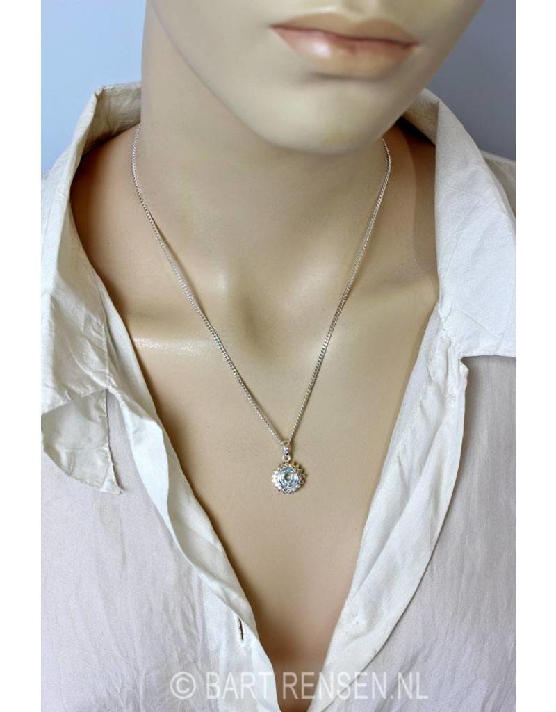 Keel chakra hanger - echt zilver