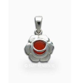 Heiligbeen chakra hanger - zilver