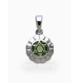 Heart chakra pendant - silver