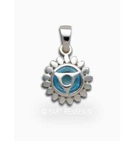 Throat chakra pendant - silver