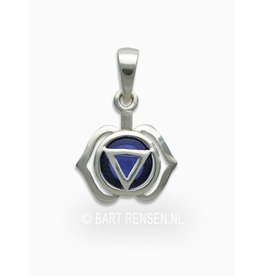 Forehead chakra pendant - silver