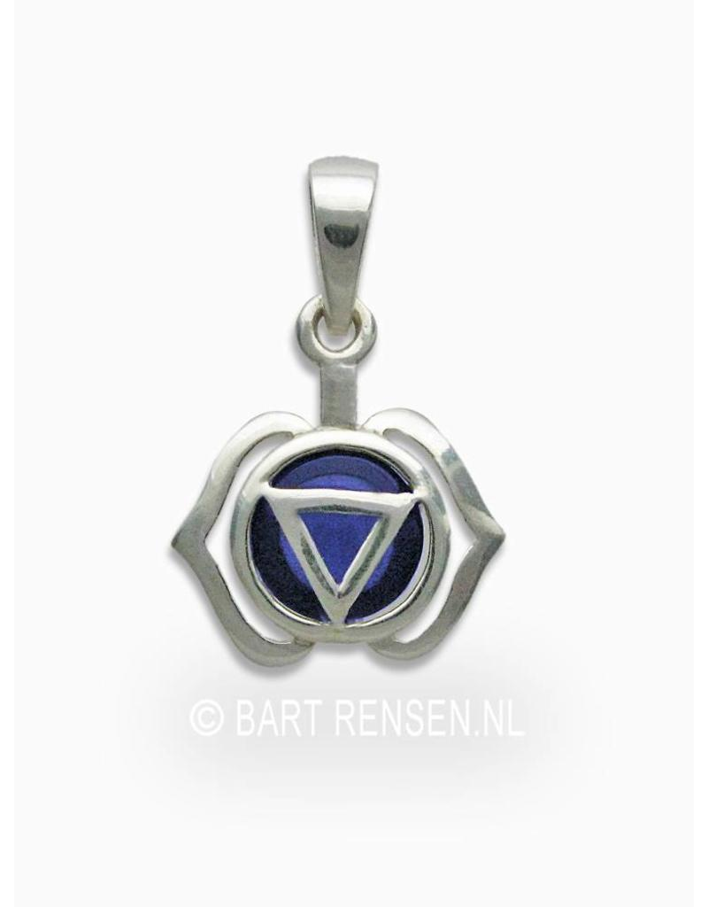 Forehead chakra pendant - sterling silver
