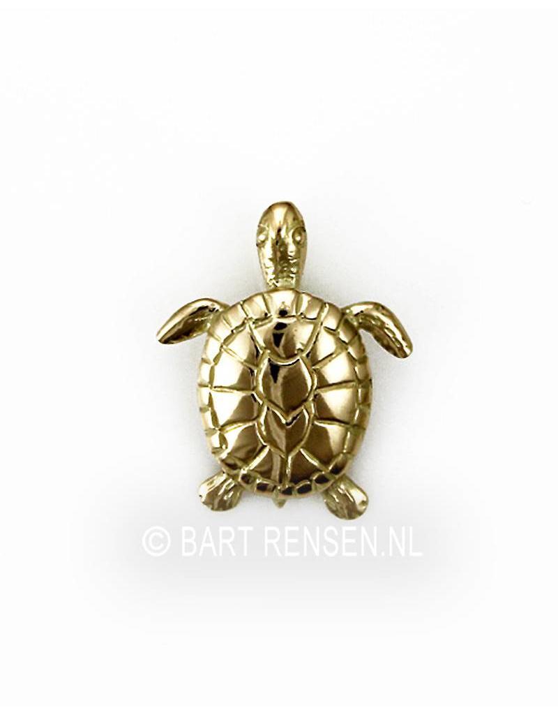 Turtle pendant - 14 carat gold