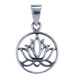 Zilveren Lotus hanger