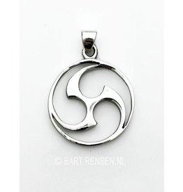 Silver Mitsu Domo pendant