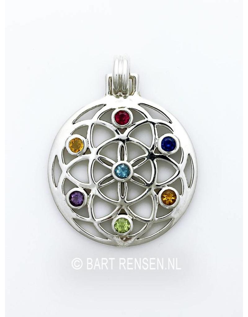 Seed of Life pendant - sterling silver