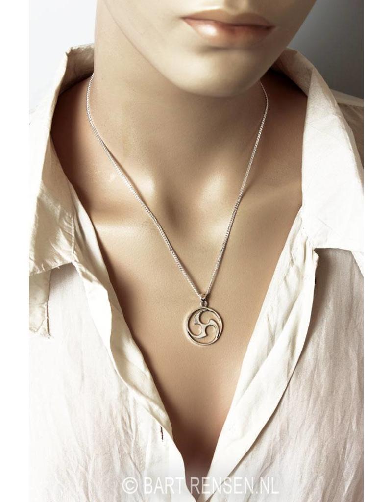 Mitsu Domo pendant - sterling silver