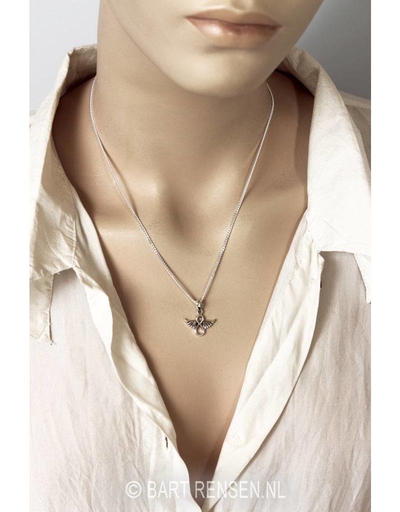 Infinity  Angel pendant - sterling silver
