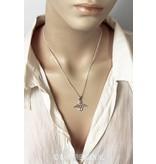 Lemniscate Angel pendant - sterling silver