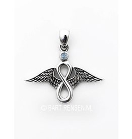 Lemniscate angel pendant