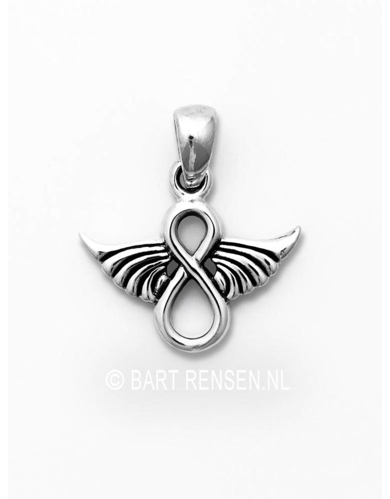 Infinity  Angel pendant - sterling silver
