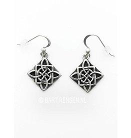 Zilveren Keltische Knoop oorhangers