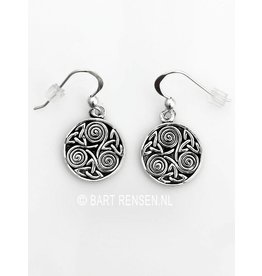 Triskel Triquetra earrings - silver
