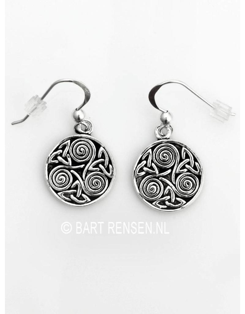 Triskel Triquetra earrings - sterling silver