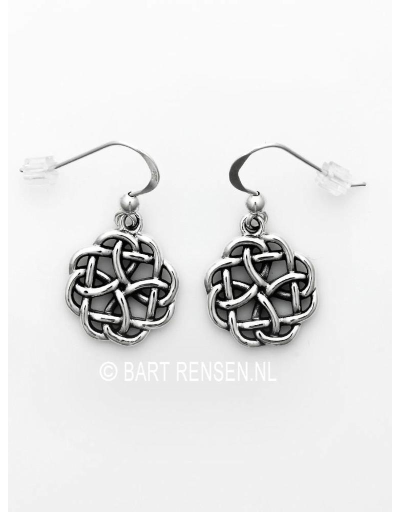 Keltische Knoop oorhangers - echt zilver