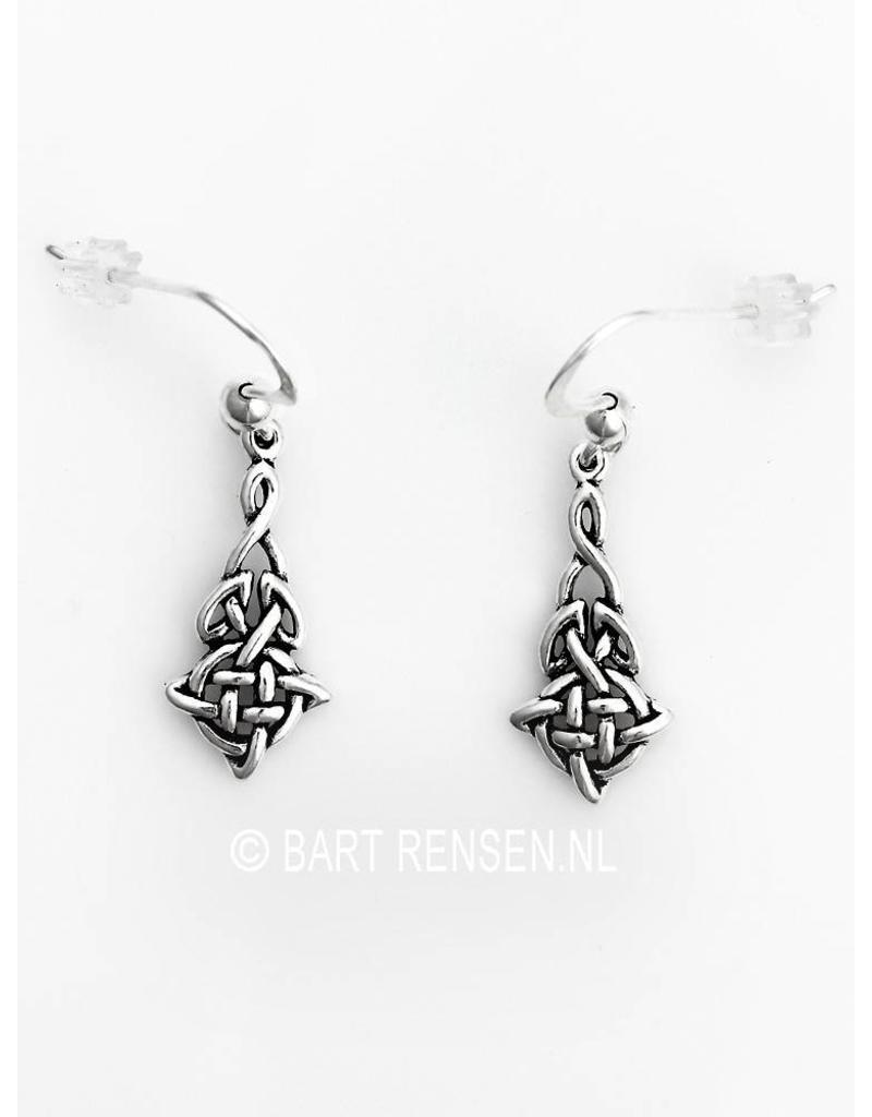 Keltische Knoop oorhangertjes - echt zilver