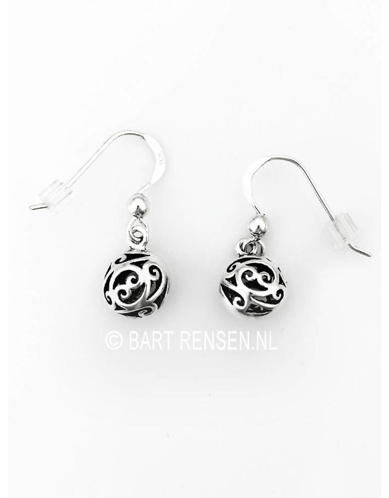 Ball earrings  -  sterling silver