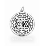 Sri Yantra Lotus hanger - zilver of 14 krt goud