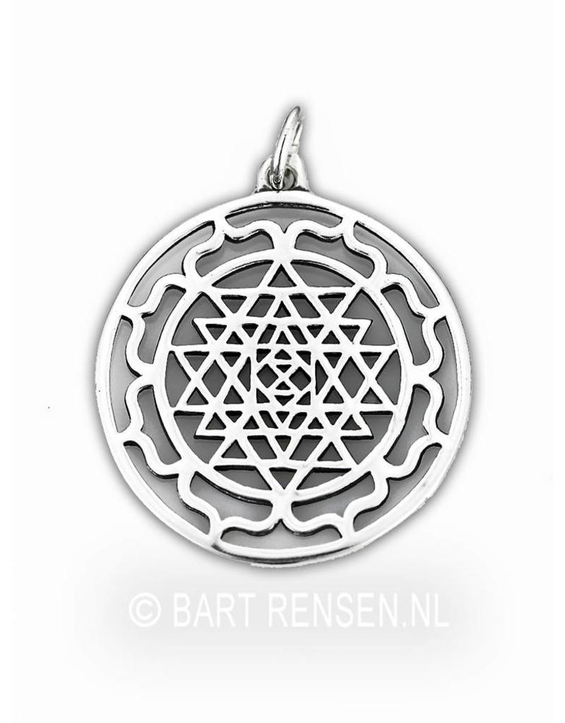 Sri Yantra Lotus pendant - silver or 14 crt gold