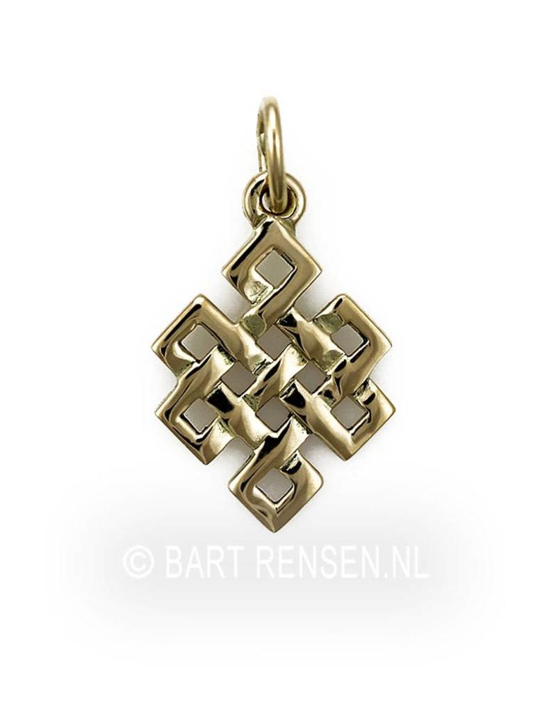 Tibetan Knot pendant - 14 crt gold