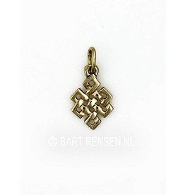 Golden Tibetan Knot pendant